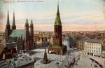 Halle a. S. Marktplatz mit den 5 Türmen