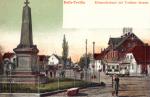 Halle-Trotha Kriegedenkmal mit Trothaer Strasse