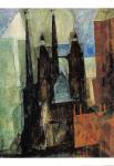 Marienkirche mit Pfeil