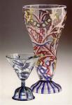 Cocktailglas und Pokal