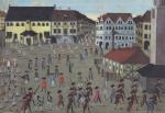 Festumzug der Halloren auf dem halleschen Marktplatz
